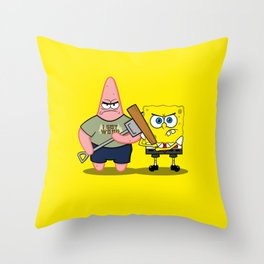 Sponge of the Dead Throw Pillow