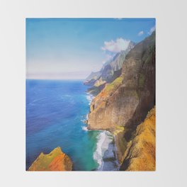 North Na Pali Coast Throw Blanket