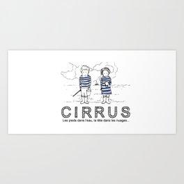 Cirrus/Les pieds dans l'eau, la tete dans les nuages. Art Print
