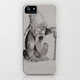 The wise dwarf iPhone Case