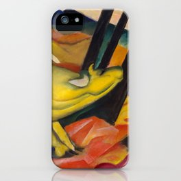 "Franz Marc ""Yellow cow"" iPhone Case"