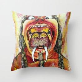 Human hat Throw Pillow