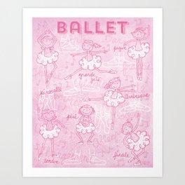 BALLET Art Print