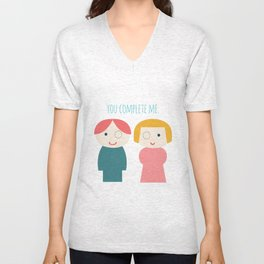 You Complete Me Unisex V-Neck