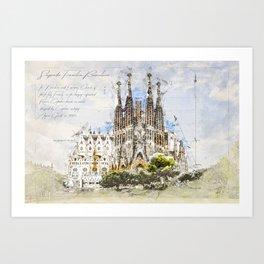 Sagrada Familia, Barcelona Spain Art Print