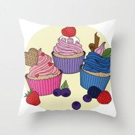 Cupcake Sweets Throw Pillow