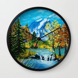 Mt. Rainier Beauty Wall Clock