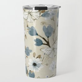 Flowers and Butterflies Travel Mug