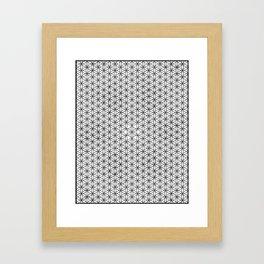 Seed grid Framed Art Print