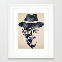 walter white Framed Art Prints featuring Walter by Kayleigh Kirkpatrick