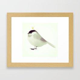 Poecile atricapillus || Little Prince Chickadee Framed Art Print