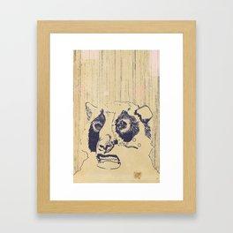 Bear Lip  Framed Art Print