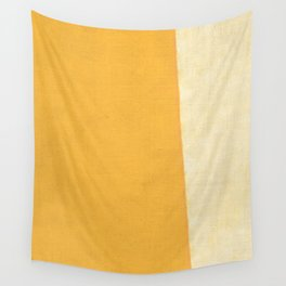 Yellow White Wall Tapestry