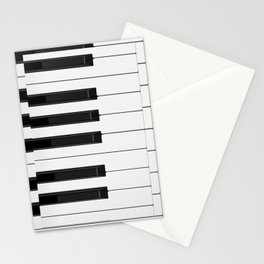 Piano / Keyboard Keys Stationery Cards