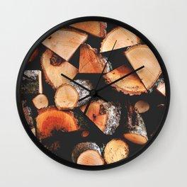 Timber butts Wall Clock