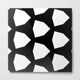 Black Mod Geometric Contrast Metal Print