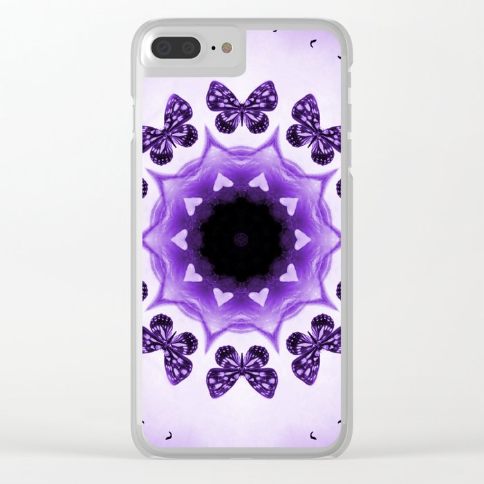 All things with wings (purple) Clear iPhone Case