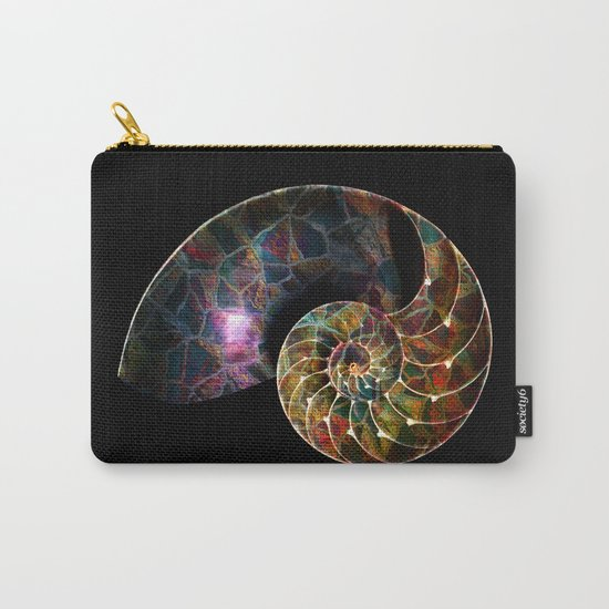Fossilized Nautilus Shell Carry-All Pouch