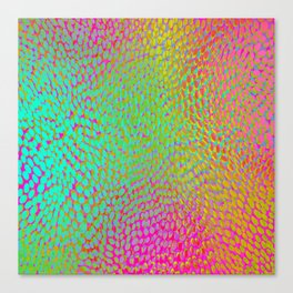 shifting dots in bright color Canvas Print