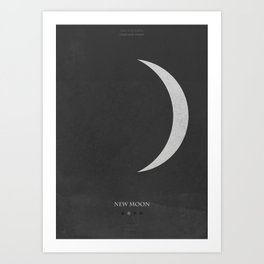 New Moon - minimal poster Art Print