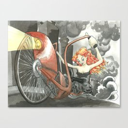 Steam Powered Penny Farthing Canvas Print