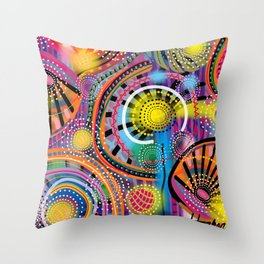 Biology of Lovers on a Rainy Night (Horizontal) Throw Pillow
