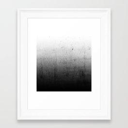 Black Ombre Concrete Texture Framed Art Print