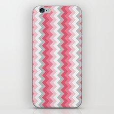 Chevron Pink & Grey iPhone & iPod Skin