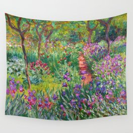 Claude Monet - The Iris Garden At Giverny Wall Tapestry