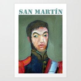 San Martin por Diego Manuel Art Print
