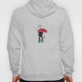Cat in the rain with Umbrella Hoody