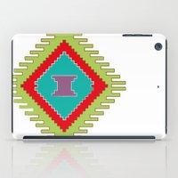 kilim iPad Cases featuring Persian Kilim  - Plain Background by Katayoon Photography & Design