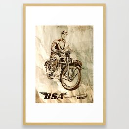 BSA - Vintage Poster Framed Art Print