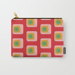 Flower Eggs Red Carry-All Pouch