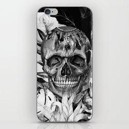 Black White Boho Skull iPhone Skin