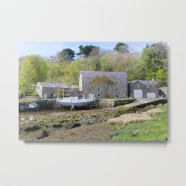 Old mill by a creek in Anglesey, Wales, United Kingdom Metal Print