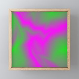 Blurry outlines of lightning with a swirling gap. Framed Mini Art Print