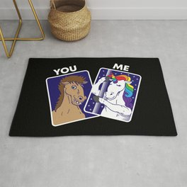 You & Me | Unicorns Horses Rug