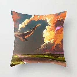 Cloud Machine Throw Pillow