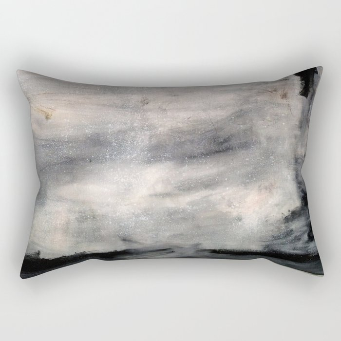 The One Day Abstract (oil on canvas) Rectangular Pillow