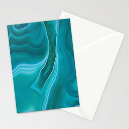 Agate sea green texture Stationery Cards