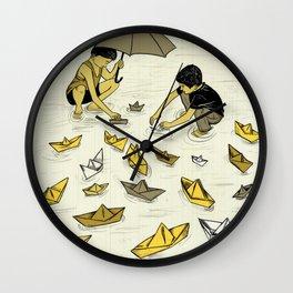 Paper Boats Wall Clock