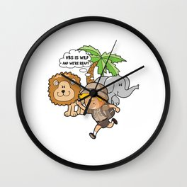 VBS Is Wild And We're Ready Funny Vacation Bible School Design Gift Wall Clock