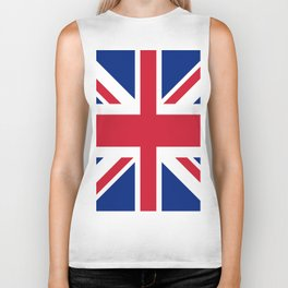 red white and blue trendy london fashion UK flag union jack Biker Tank