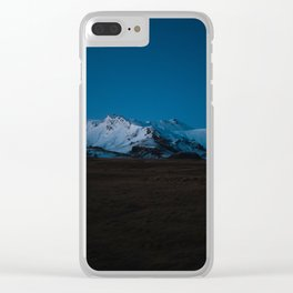 Dusk in the Mountains Clear iPhone Case
