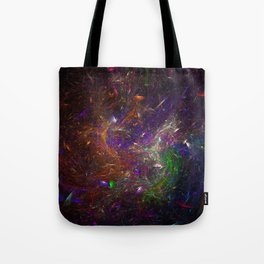 Pattern of colorful scratches Tote Bag