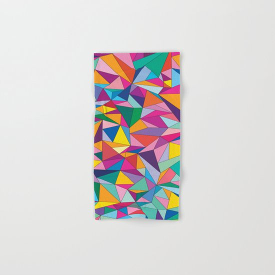 Triangles in color Hand & Bath Towel