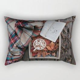 Marshmallows, Hot Chocolate, Autumn Rectangular Pillow