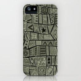 ESHE charcoal mono iPhone Case