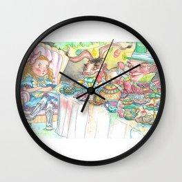 Alice's Mad Tea Party Wall Clock